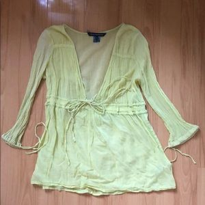 French Connection sz 6 light green top